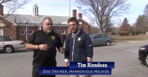 Media of Tim Riendeau with animal control officer Emmanuel Maciel